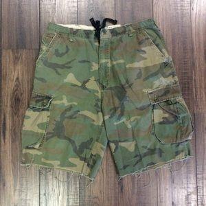 Men's Distressed Army Fatigue American Rag Shorts